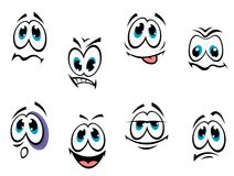 Comics faces set Stock Photo