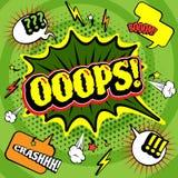 Comics farbiges Blasenplakat lizenzfreie abbildung