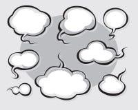 Comics fassen ab und dachten Luftblasen Lizenzfreie Stockfotos