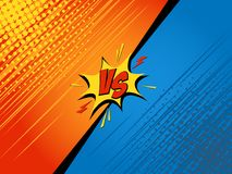 Comics. Fight background. Versus battle. Cartoon vector illustration Royalty Free Stock Photography