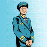 Comics flight captain Stock Images