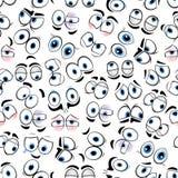 Comics googly eyes seamless pattern background Stock Photo