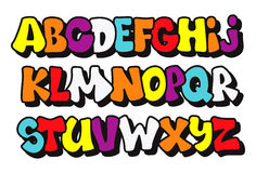 Comics graffiti style font type. Vector Stock Photography