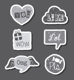Comics icons. Over gray background vector illustration Stock Photos