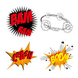 Comics icons Royalty Free Stock Images