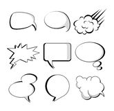 Comics icons Stock Photography