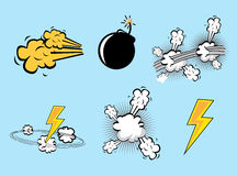 Comics icons Stock Image