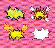 Comics icons. Over pink background vector illustration Stock Photos