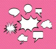 Comics icons pink Stock Photos