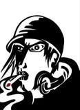 Smoking men comics art Stock Photography