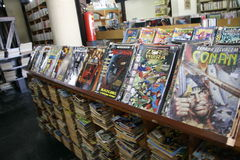 Comics library Royalty Free Stock Image
