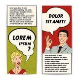 Comics-menschlicher Fahnen-Satz Lizenzfreie Stockbilder