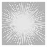 Comics-RadialgeschwindigkeitPseudografikeffekte Vektor Stockfoto