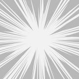 Comics-RadialgeschwindigkeitPseudografikeffekte Vektor Lizenzfreie Stockbilder