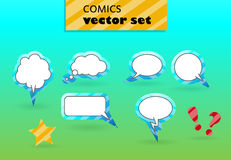 VECTOR Comics. Set of vector balloons for comics stock illustration