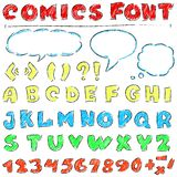 Comics set stock illustration