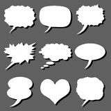 Comics set. Vector set of  white comics bubble Stock Images