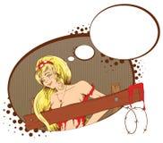 Comics sexy vampire girl dreams Stock Photography