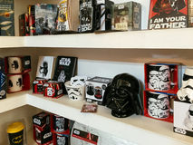 Comics Souvenirs Available For Sale In Comic Book Store. BUCHAREST, ROMANIA - MAY 06, 2017: Comics Souvenirs Available For Sale In Comic Book Store Stock Image