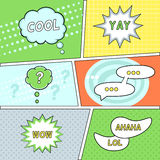 Comics Speech Bubbles on Retro Background Royalty Free Stock Photo