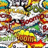 Comics speech bubbles seamless pattern. Vector Stock Image