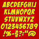 Comics style alphabet collection set Stock Images