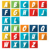 Comics style alphabet collection set Stock Image