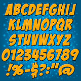 Comics style alphabet collection set Royalty Free Stock Image