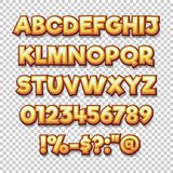 Comics style alphabet collection set. Illustrator Vector Eps 10 stock illustration