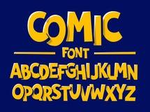 Comics style font. Alphabet illustration vector illustration