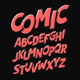 Comics style font. Alphabet illustration Stock Photography