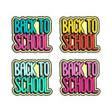 The comics style inscription - Back to school. Stock Photography