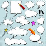 Comics style speech bubbles Stock Image