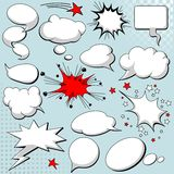 Comics style speech bubbles Stock Images