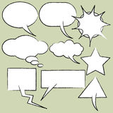 Comics style speech bubbles. Vector set of comics style speech bubbles Stock Photo