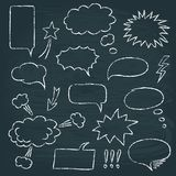 Comics style speech bubbles set Stock Image