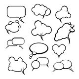 Comics style speech bubbles with white background. Comics style speech bubbles with balloons on background vector illustration