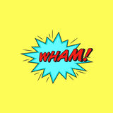 Comics style  sticker Wham!. Comics book speech  element Stock Photo