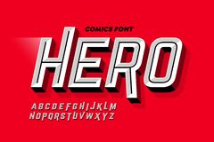 Free Comics Super Hero Style Font Royalty Free Stock Photography - 171857097