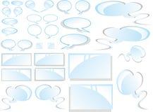 Comics-Wolken und Aufkleber Lizenzfreies Stockbild