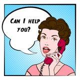 Comics Woman Color Illustration vector illustration