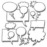 Comics Word and Thought Bubbles Royalty Free Stock Photos