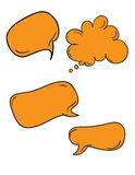Comics Word and Thought Bubbles Royalty Free Stock Photo