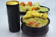 Comida afghani de la comida del pollo Imagenes de archivo