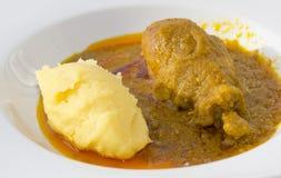 Comida africana tradicional de MOAMBA Imagen de archivo