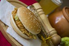 Comida americana con la hamburguesa Imagen de archivo