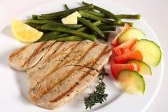Comida asada a la parilla del filete de atún Imagen de archivo libre de regalías