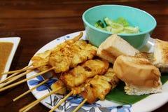 Comida asiática - Satay Imágenes de archivo libres de regalías