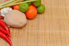 Comida asiática de los ingredientes Imagen de archivo