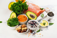 Comida baja del colesterol imágenes de archivo libres de regalías